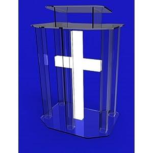 unassembled acrylic lectern pulpit lucite. Black Bedroom Furniture Sets. Home Design Ideas