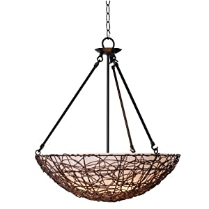 Kenroy Home 93303RAT Thicket 3-Light Pendant, Rattan by Kenroy Home