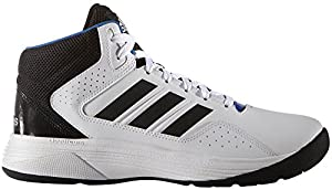 adidas Performance Men's Cloudfoam Ilation Mid Basketball Shoe,White/Black/Metallic Silver,9 M US