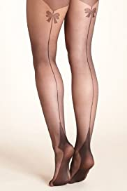 Autograph 10 Denier Ladder Resist Bow Backseam Tights [T60-5475-S-FO32]