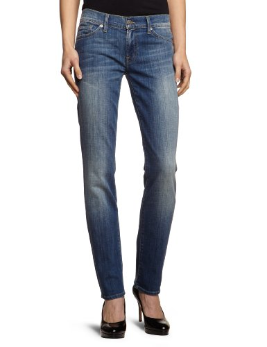 7 For All Mankind - Jeans slim, donna, Blu (Blau (Toronto Light)), 38/40 IT (25W/34L)