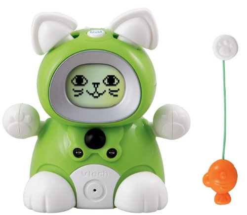 Vtech Kidiminiz KidiCat Interactive Pet Cat - Green Kitten