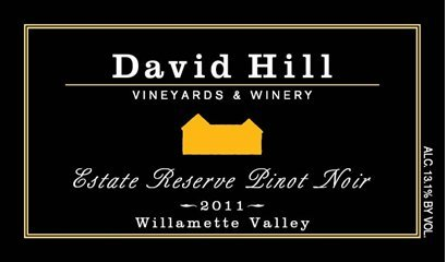 2011 David Hill Vineyards Estate Reserve Pinot Noir 750 Ml