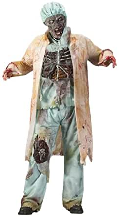 FunWorld Men's  Zombie Doctor, Light Green, One Size Costume