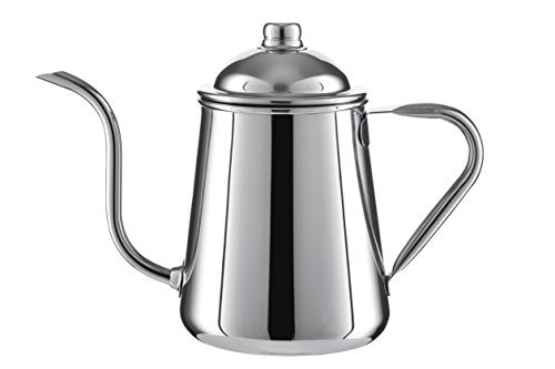 Pour Over Drip Kettle - High Quality Stainless Steel With Precision Gooseneck spout for amazing water flow control. Ideal for pour over coffee and tea - 0.9L capacity (Kettle Spout compare prices)