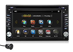 See Pumpkin 6.2 Inch For Nissan Double Din In Dash HD Touch Screen Car DVD Player Stereo GPS Navigation Support Bluetooth/SD/USB/AM/FM Radio/3G/1080P/DVR With Free Reverse Rearview Camera Details