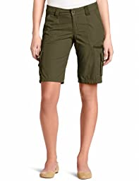 Dickies Women\'s 11 Inch Relaxed Cargo Short, Grape Leaf Green, 4