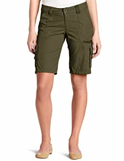 Dickies Women's 11 Inch Relaxed Cargo Short, Grape Leaf Green, 4