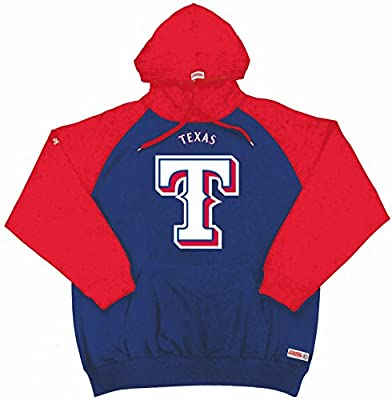 MLB Texas Rangers Men's Big Logo Pullover Hood