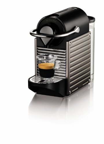 Nespresso by Krups XN300540 Pixie Coffee Machine, Titanium