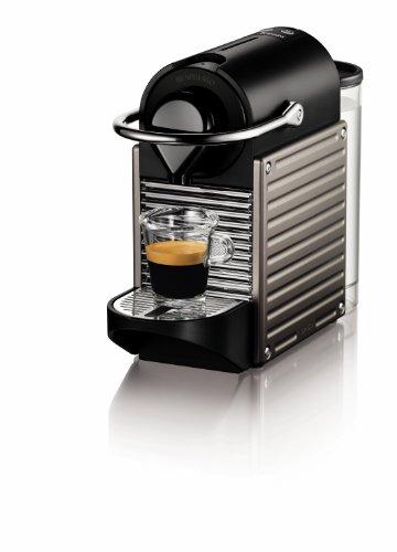 Nespresso by Krups XN300540 Pixie Coffee Machine, Titanium