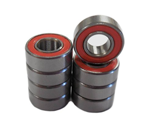 Extreme Hobbies 5x11x4mm Red Rubber Sealed Bearings (Duratrax Evader EXT & EXT2) (Hobby Bearings compare prices)