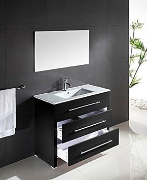 Poign/ées de meuble de cuisine ou de salle de bain en chrome bross/é ou poli