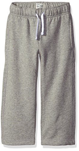 The Children's Place Little Boys and Toddler Gym Uniform Fleece Pant, Smoke, 4T (4t Boys Pants compare prices)