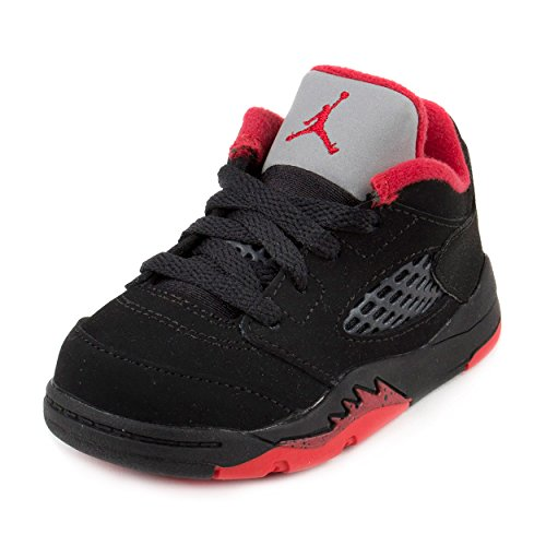 Nike Jordan Toddlers Jordan 5 Retro Low (TD) Black/Gym Red/Black/Mtlc Hmtt Basketball Shoe 5 Infants US