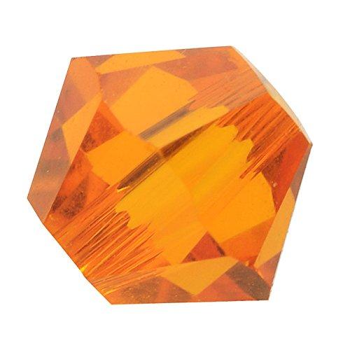 Swarovski Crystal, #5328 Bicone Beads 4mm, 24 Pieces, Tangerine