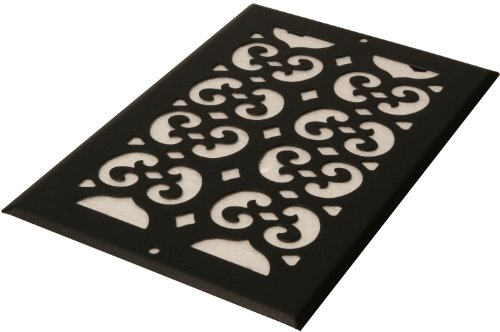 Decor Grates S614R 6-Inch by 14-Inch Painted Return Air, Black Textured (Wall Air Vent compare prices)
