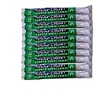 Pack of 10 Light Stick Green 12-Hour for Emergency Disaster Preparedness