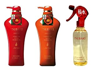 SHISEIDO Tsubaki Shinning Set 2012 (Shampoo, Conditioner, Hair Spray)