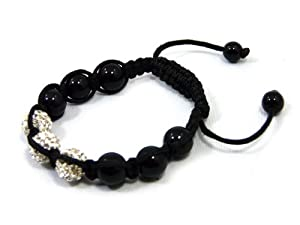 Shamballa Bracelets - Various Designs (3 White Disco Beads)