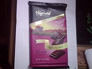 HAGELAND PREMUIM BELGIAN DARK CHOCOLATE 53 % COCOA 10.5 OUNCE BAR