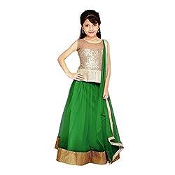 Najara Fashion fancy material traditional semi-stitched lahenga choli (njc007 12-13 yr)
