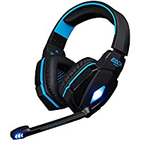 EACH G4000 Comfortable 3.5mm Stereo Listening LED Lighting Over-Ear Gaming Headphone Headset Headband With Mic... - B01FSEZDSG