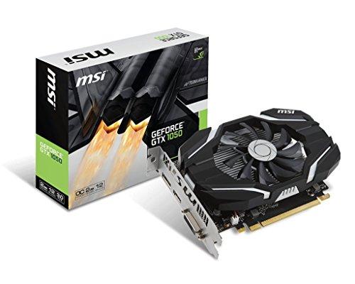 MSI NVIDIA GeForce GTX 1050 2G OC (Overclocked) 2 GB GDDR5 128 bit Memory HDMI/DP/DVI PCI Express 3 Graphics Card - Black