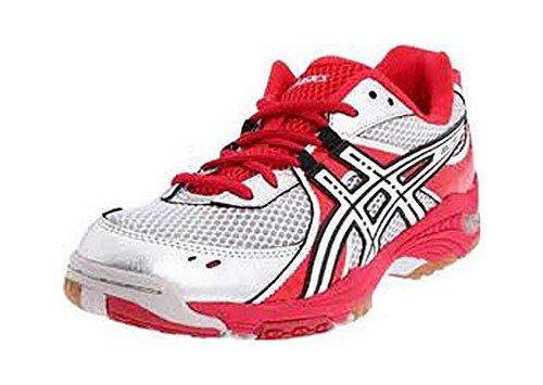 ASICS Women's GEL-1130V Volleyball Shoe,Red/White/Silver,9 B US