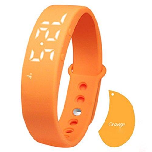 C' est W5Fashion LED orologio intelligente sano Braccialetto Sports Tracker contapassi pedometro sonno Passi Calory Temperature Monitor