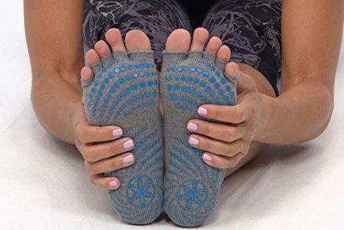Sumdreams Grippy Toeless Yoga Pilates Barre Exercise Half Toe Grip Socks Average Size