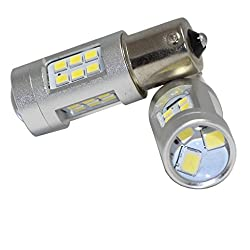 See 20w Super Bright Projector Style Reflecting 21 LED Light Bulbs Auto Replacement Lighting Car Turn Signal Brake Tail Parking Daytime Running Side Light Bulb 1156 BA15s 7506 L162 Details