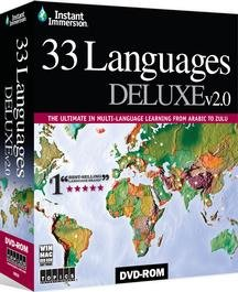 Instant Immersion Learn 33 Languages Tutor DVD-ROM - Arabic, Bengali, Brazilian (Portuguese), Chinese (Cantonese), Dutch, English, Farsi (Persian), Finish, French, German, Greek, Hebrew, Hindi, Hungarian, Irish, Italian, Japanese, Korean, Latin, Norwegian, Polish, Punjabi, Russian, Slovak, Spanish, Swahili, Swedish, Tagalog (Filipino), Thai, Tibetan, Ukrainian, Vietnamese, Zulu