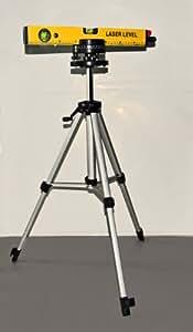 Laser Wasserwaage + Stativ + Schutzbrille im KOFFER Nivelliergerät Linienlaser