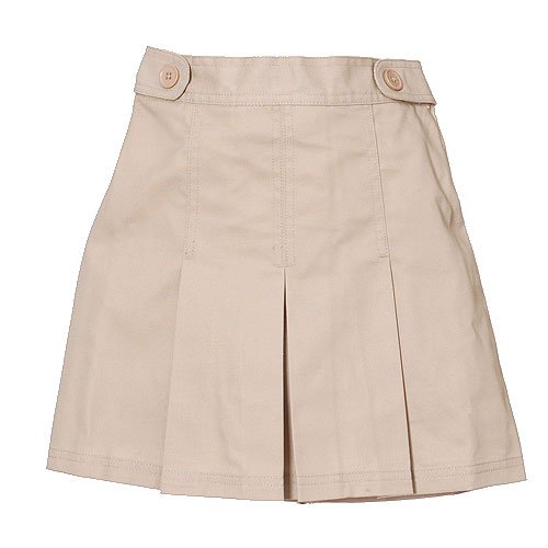 Plus Size Girls School Uniform Khaki Pleated Tab Scooter Skirt 8.5-20.5