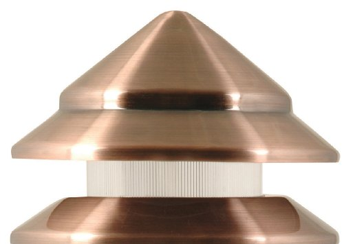 Moonrays 95871 Marion Low Voltage Metal 3 Tier Path Light With Copper Finish 7 Watt Lamp
