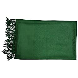 NTM Shawls for Women (Bottle Green, 40x80 inch)