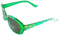 Viaano Wayfarer Sunglasses (Green, VI-KID-OVL4)