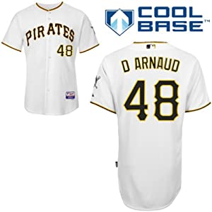 Chase D Arnaud Pittsburgh Pirates Home Authentic Cool Base Jersey by Majestic by Majestic