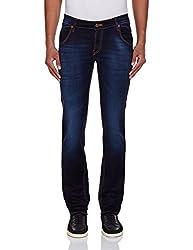 Yellow Jeans Men's Fashion Slim Jeans (PLAYBOY 585_34W x 34L_Blue)