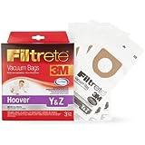 3M Filtrete Hoover Y & Z Vacuum Bag, 3 Pack