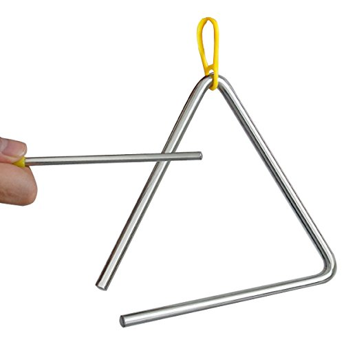 TRIXES Triangolo musicale in acciaio Strumento a percussione scolastico per bambini con battente