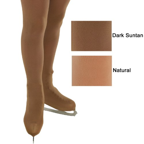Over The Boot Ice Skating Tights - Natural or Dark Suntan (12-14 Years, Natural)
