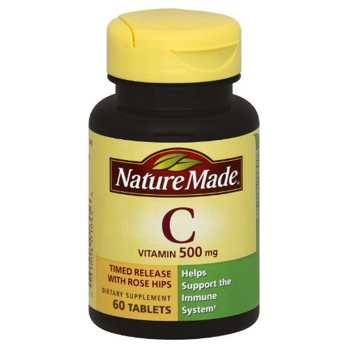 Nature Made Time-Release Vitamin C With Rose Hips 500 Mg, Tablets, 60-Count (Pack Of 2)
