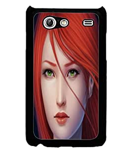 ColourCraft Beautiful Lady Design Back Case Cover for SAMSUNG GALAXY S ADVANCE I9070