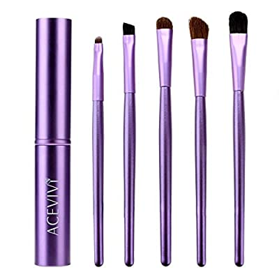 ACEVIVI 5 pcs Portable Cylinder Eye Makeup Cosmetic Brushes Three Colors Available