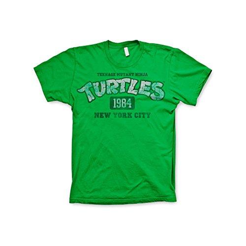Officially Licensed Merchandise TMNT - New York 1984 T-Shirt (Green), Medium