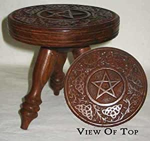 AzureGreen Small Pentagram Altar Table by Ritual Magick