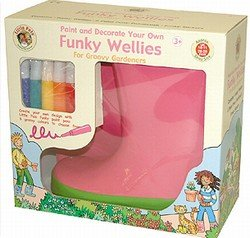 Paint your own funky wellies (Pink)