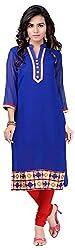 INDIAN FASHION LADY Women's Georegette Kurtas (Ifl-116 , Blue)
